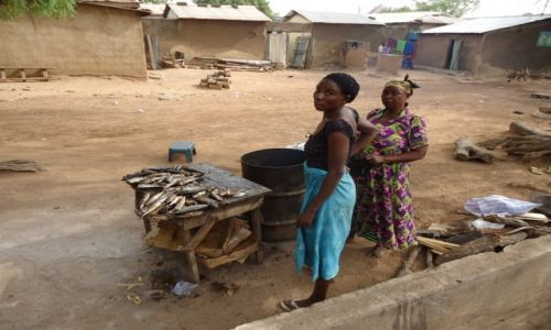 Zdjęcie GHANA / Upper East / Bolgatanga / Sprzedaż ryb