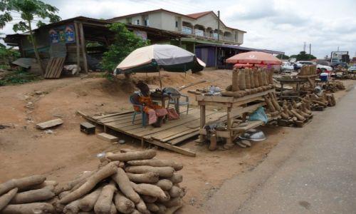 Zdjęcie GHANA / Ashanti / Ejisu / Afrykańskie kartofle