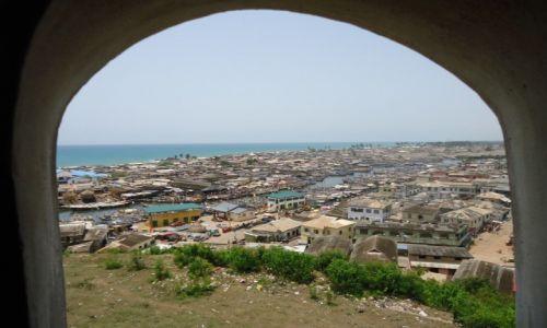 Zdjęcie GHANA / Central Region / Elmina / Panorama Elminy z portem