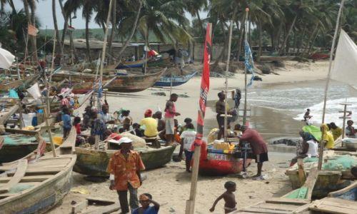 Zdjęcie GHANA / Central Region / Anomabo (Anomabu) / Port w Anomabo