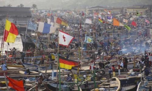 Zdjecie GHANA / Elmina / Elmina / Port rybakòw w Elminie