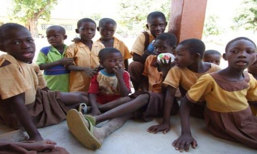 Zdjecie GHANA / Bolgatanga / Kansingo / Uczniowie na przerwie
