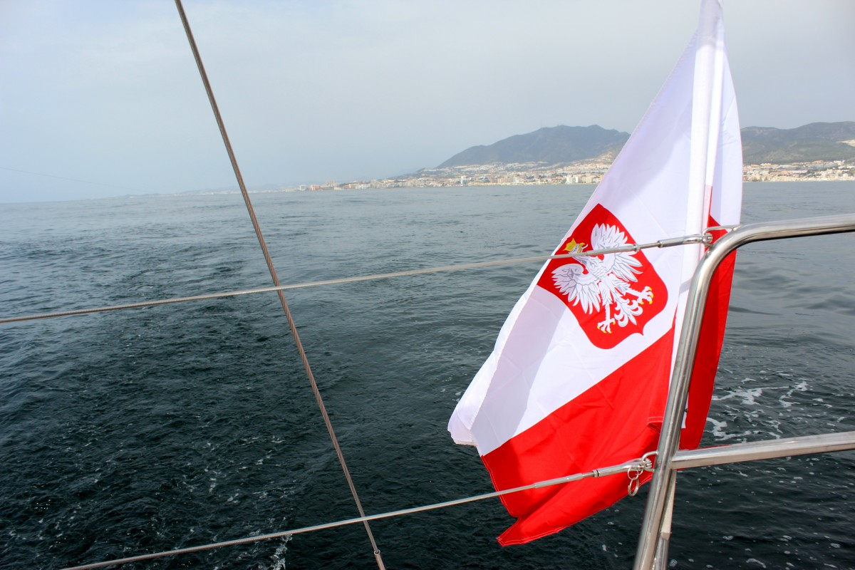 Zdjęcia: Cieśnina Gibraltar , Ocean Atlantydzki , Bandera Polska 2, GIBRALTAR