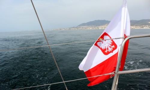 Zdjecie GIBRALTAR / Ocean Atlantydzki  / Cieśnina Gibraltar  / Bandera Polska 2