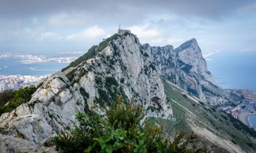 Zdjecie GIBRALTAR / Płw. Iberyjski / skała Gibraltarska / angielska aura...