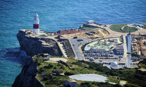 Zdjęcie GIBRALTAR / Skała Gibraltarska / . / Widok na Europa Point