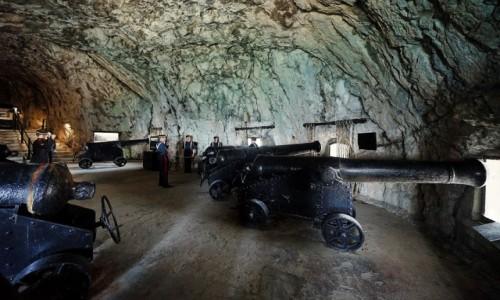 Zdjęcie GIBRALTAR / Skała Gibraltarska / Great Siege Tunnels / Bateria