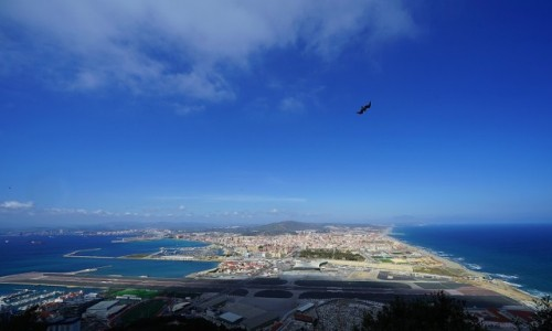 Zdjecie GIBRALTAR / Skała Gibraltarska / . / La Linea de la Concepcion z lotu ptaka