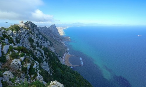 Zdjecie GIBRALTAR / Skała Gibraltarska / . / Stanowisko ogniowe