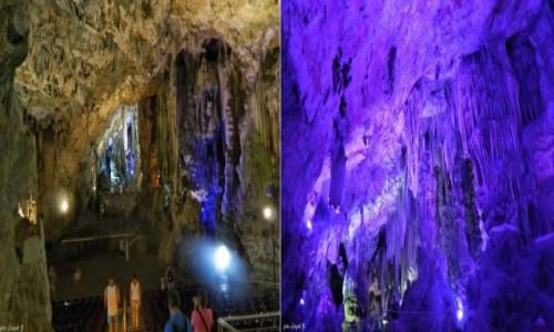 Zdjecie GIBRALTAR / Półwysep Iberyjski. / Gibraltar. / Jaskinia św. Michała. (st.Michael)