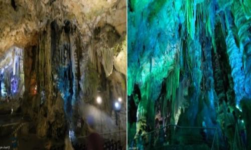 Zdjecie GIBRALTAR / Półwysep Iberyjski. / Gibraltar. / Jaskinia św. Michała.