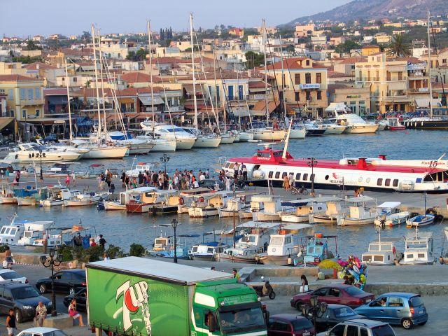 Zdjęcia: Wyspa Egina, Port, GRECJA