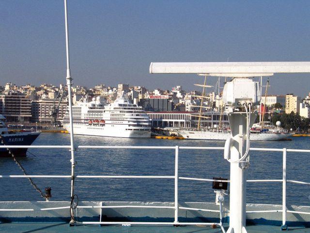 Zdjęcia: Ateny, Widok na port w Pireusie., GRECJA