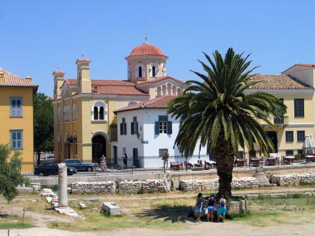 Zdjęcia: Ateny,  Domki w okolicay Akropolu, GRECJA