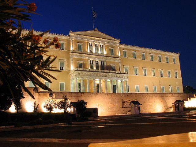 Zdjęcia: Ateny, Parlament nocą, GRECJA