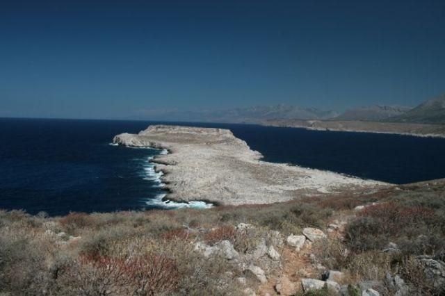 Zdjęcia: Półwysep Mani, Messenia, Widok na zamek na półwyspie Mani, GRECJA