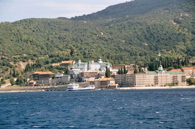Zdj�cia: klasztory, Rejs na �w.g�r� Athos, GRECJA