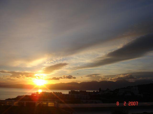 Zdj�cia: Elounda, Kreta, Wschod slonca Poro Elounda Hotel, GRECJA