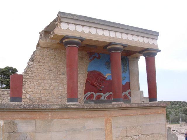 Zdjęcia: Knossos, Kreta, byczek, GRECJA
