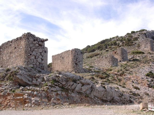 Zdjęcia: Gdzies w górach, Kreta, Wiatraki, GRECJA