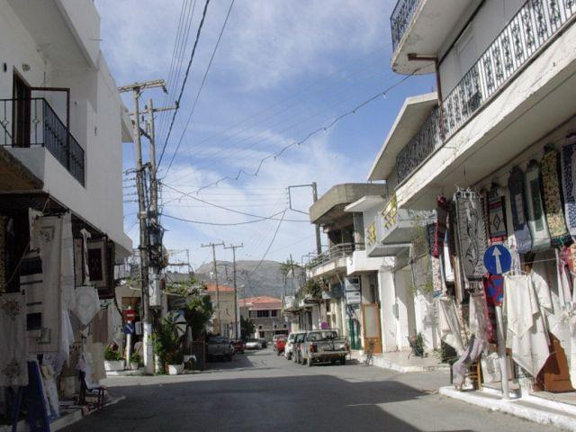 Zdj�cia: Gdzies w g�rach, Kreta, Uliczka handlowa, GRECJA