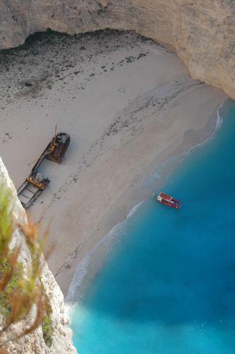 Zdjęcia: Zakynthos , Zatoka wraku z góry, GRECJA