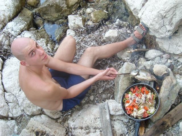 Zdjęcia: Amiros Skala, Rodos, obiad, GRECJA
