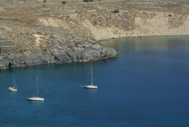 Zdjęcia: Rodos, zatoka Lindos, GRECJA