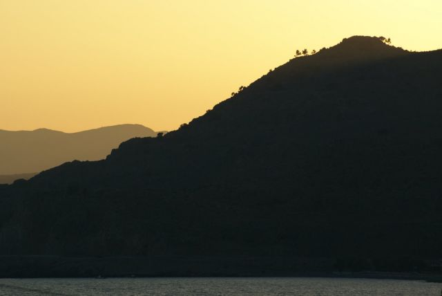 Zdj�cia: Roodos, krajobraz wieczorow� por�.., GRECJA