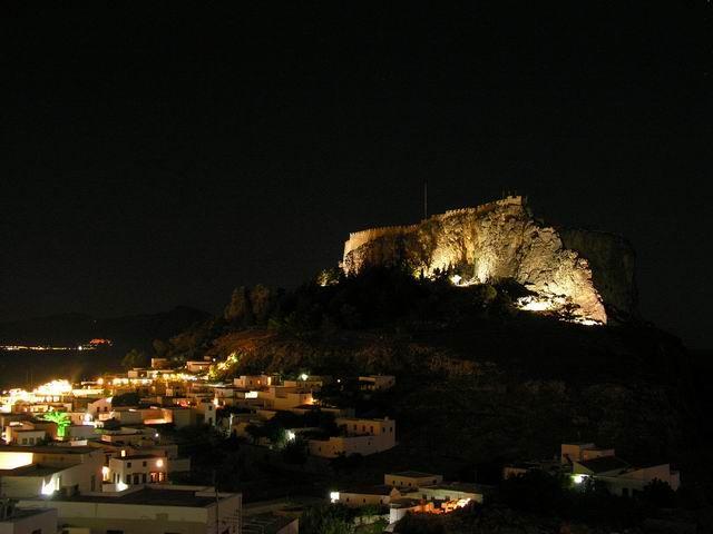 Zdjęcia: RODOS, RODOS, LINDOS AT NIGHT, GRECJA