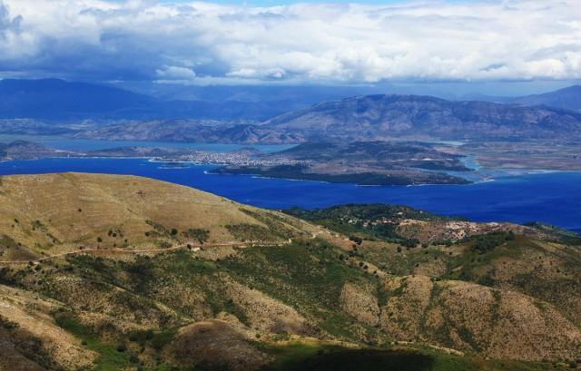 Zdjęcia: Góra Pantokrator, Korfu, Widoczek, GRECJA