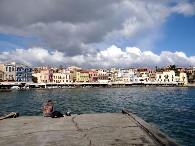 Zdjęcia: Chania, Kreta, Chania pod chmurami., GRECJA