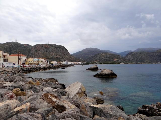 Zdjęcia: Paleochora, Kreta, Pochmurny dzień nad morzem., GRECJA