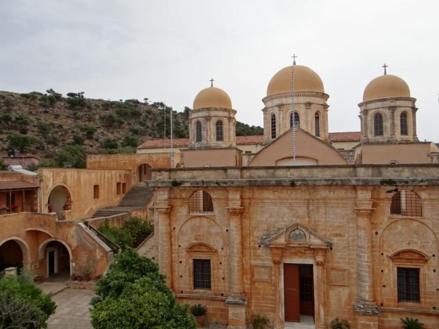 Zdjęcia: Półwysep Akrotiri, Kreta, Migawki z Krety - klasztor Agia Triada., GRECJA