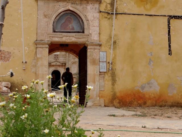 Zdjęcia: Półwysep Akrotiri, Kreta, Migawki z Krety - klasztor Gouverneto, GRECJA