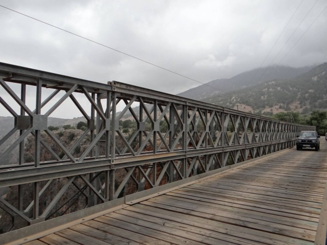 Zdjęcia: Aradena, Kreta, Most nad wąwozem Aradena., GRECJA