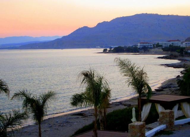 Zdjęcia: Pefkos, Rodos, Po zachodzie słońca, GRECJA