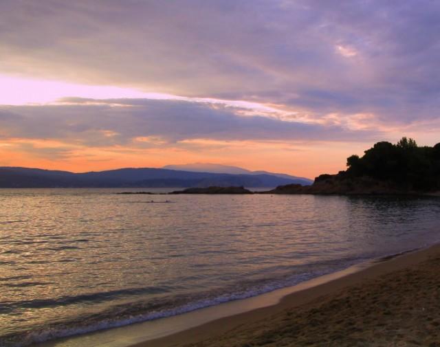 Zdjęcia: Banana Beach, Skiathos, ~Zachód słońca na Banana Beach, GRECJA