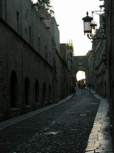 Zdj�cia: RODOS, RODOS, ulica Rycerska, GRECJA