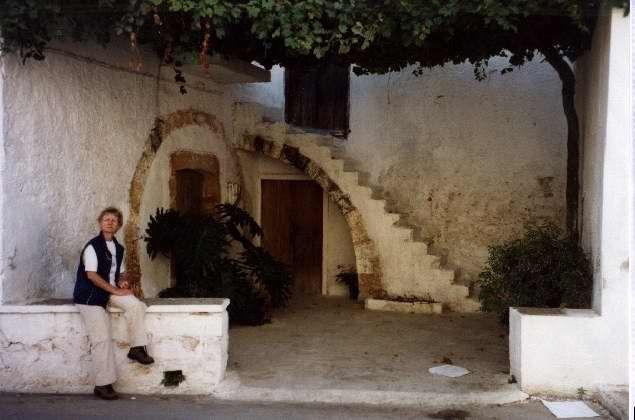 Zdjęcia: Kato Daratso, Kreta, podwórko, GRECJA