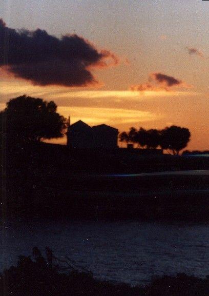 Zdjęcia: widok z plazy o zachodzie słońca, Kreta, Agios Apostolis, GRECJA