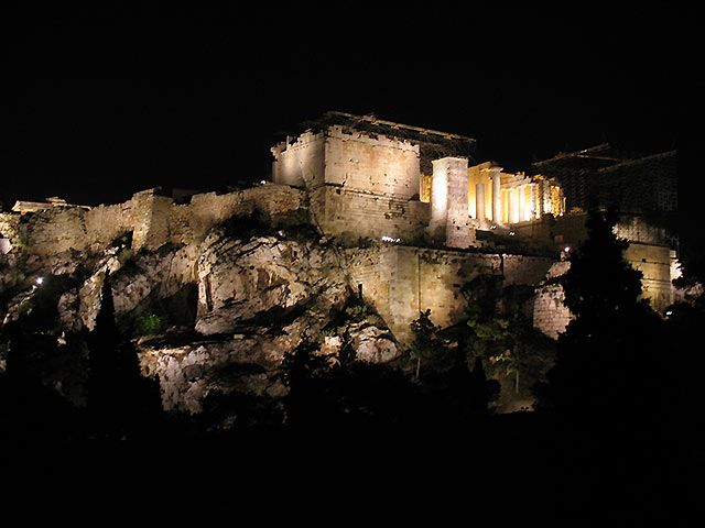 Zdjęcia: Ateny, Akropol nocą, GRECJA