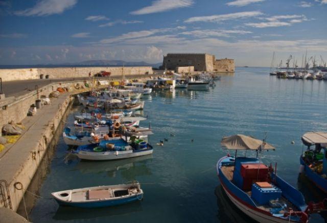 Zdj�cia: Heraklion, Kreta, Wenecka twierdza w Heraklionie, GRECJA