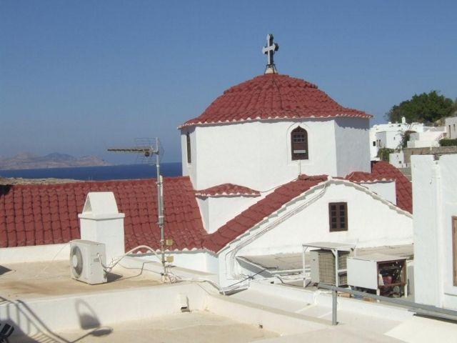 Zdjęcia: Lindos, Kościół NMP, GRECJA
