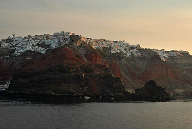 Zdj�cia: Cyklady, santorini, Cyklady, santorini, wsch�d s�o�ca nad Santorini, GRECJA