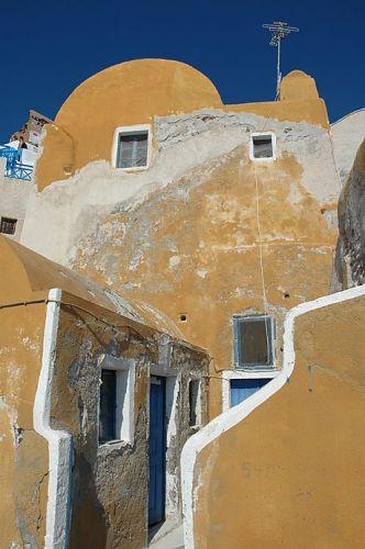 Zdjęcia: Cyklady, Santorini, Cyklady, Santorini, domek o miękkich liniach, GRECJA