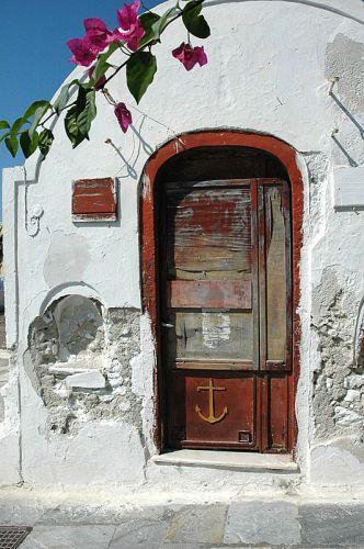 Zdjęcia: Santorini, Cyklady, takie trochę inne drzwi, GRECJA