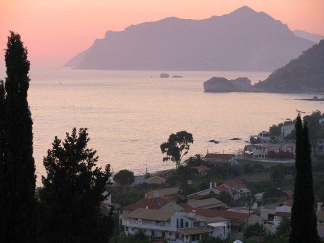 Zdjęcia: Agios Gordios, Korfu, Zachód nad Agios Gordios, GRECJA
