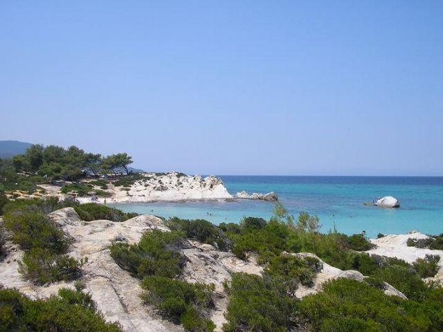 Zdjęcia: Sarti, Pomarańczowa Plaża, Półwysep Chalkidiki, Błękit., GRECJA
