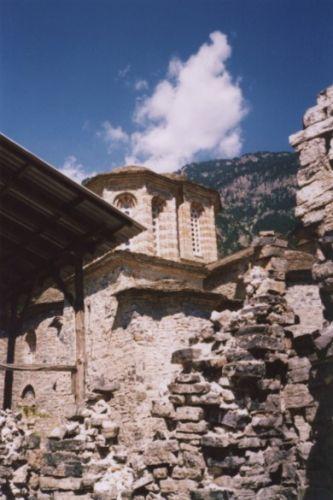 Zdj�cia: Olimp, Pieria, Monastyr Aghios Dionisios, GRECJA